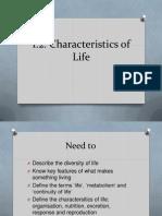 1 2 3 characteristics of life