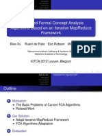 Distributed Formal Concept Analysis Algorithms Based on an Iterative MapReduce Framework