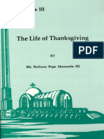 The Life of Thanksgiving - HH Pope Shenouda III
