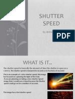 shutter speed presentation