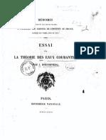 Boussinesq - 1877 - Essai Sur La Théorie Des Eaux Courantes