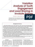 Variation Analysis of Tooth Engagement and Load Sharing in Involute Splines