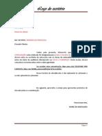 Carta - Comunicado de Audiência