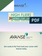 Avanse High Fliers - Express Study Loans