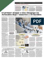 El Primer Ataque a Una Sinagoga en Jerusalén Deja 7 Muertos y 10 Heridos