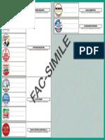 Facsimile scheda elettorale Regionali reggio emilia