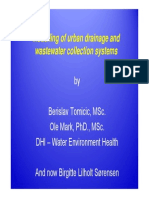 Modelling of Urban Drainage and Wastewater Collection systems