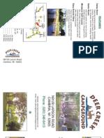 2009 Brochure for Deer Creek Campground