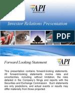 API IR Presentation 11-16-06[1]