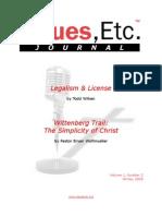 Legalism & License