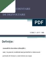 Anomaliile Dentare de Dezvoltare Ppt