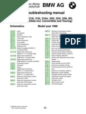 1998 BMW E36 Electrical Wiring Diagram | Vehicle Parts | Mechanical Maf Sensor Wiring Diagram Bmw I on