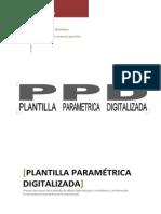 PLANTILLA PARAMETRICA DIGITALIZADA
