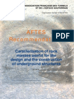Caracterisation of Rock Masses Useful for the Design and the Construction of Underground Structures