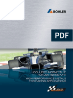 BW145DE High Performance Metals for Racing Applications