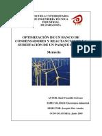 OptimizacionReactivaBobinasCondensadoresParqueEolico