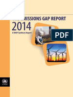 Executive Summary of Unep 2014 Emissions Gap Report