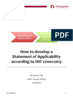 How to Develop a Statement of Applicability According to ISO 27001 2013