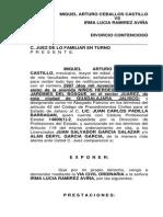 Divorcio Contencioso Miguel Arturo Ceballos Castillo