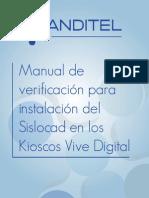 Manual de Verificacion Para Instalacion Del Sislocad