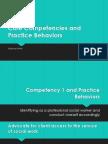 core competencies and practice behaviors