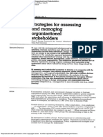 Strategies for Assessing and Managing Organizational Stakeholders