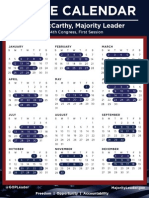 House of Representatives 2015 Schedule