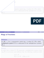 Rings of Fractions