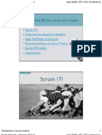 Technical Writers in Scrum Teams