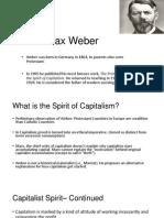 Capitalism Weber