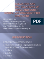 Globalization and Industrial Relations of China India