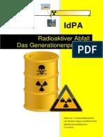 Radioaktive Abfälle - Das Generationenproblem