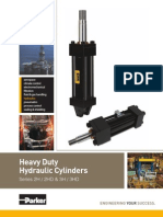Parker Heavy Duty Hydraulic Cylinders 2H, 2HD, 3H, 3HD.PDF