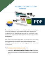 3 Cara Membuat Website