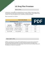 New Brunswick Drug Plan Premiums (Alward Government 2014)