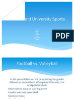 gender and university sports thing