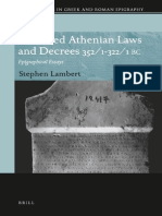 Inscribed Athenian Laws and Decrees 3521 3221 BC