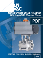 Ball Valves, Three - Piece With Integral ISO Mounting Flange