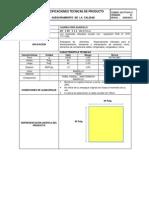 AC-FT-019.2013  LAMINA PEBD AMARILLO 40´´ X 40´´ X 1.2