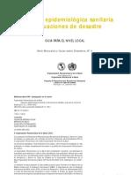 Vigilancia Epidemilógica Sanitaria en Desastres, 1