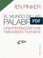 Pinker - El Mundo de Las Palabras