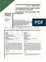 ABNT NBR 13543.1995 Movimentação de Carga - Laços de Cabo de Aço - Utilização e Inspeção