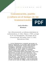 Comunicacion Pueblo y Cultura en El Tiempo de Las Transnacionales