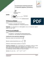Matemática Inicial Trayecto Inicial Sesión de Clase 2