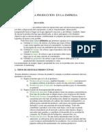 Tema 5 La Produccion en La Empresa