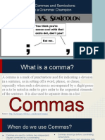 commas and semicolons ppt