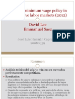 Optimal Minimum Wage Policy in Competitive Labor Markets
