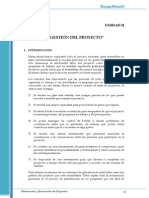 Elaboración y evaluación de proyectos.Tecsup Gestión Del Proyecto - Unidad 2