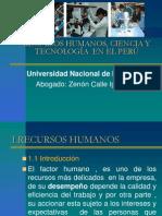 Xiii.recursoso Humanos, Ciencia y Tecnologia en El Peru