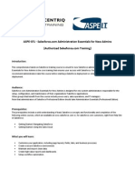 SFDC ADM Course Certification Content